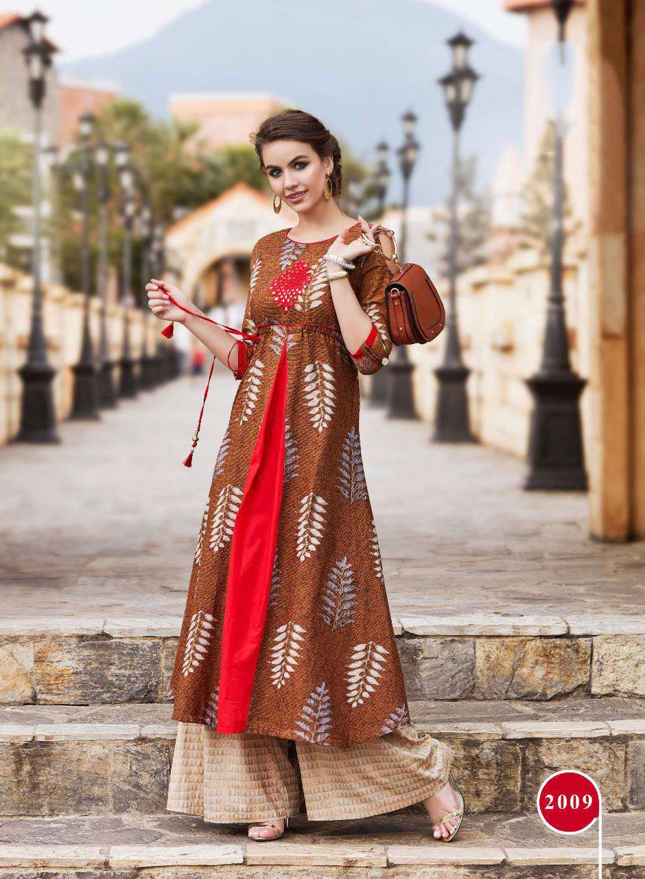 Buy cotton kurti catalog kajal style wholesale price at sethnic surat