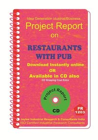 Restaurants with PUB manufacturing Project Report ebook