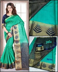 Sethnic tussar art silk saree weaving design wholesale store surat