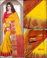 Sethnic tussar art silk saree weaving design wholesale store surat