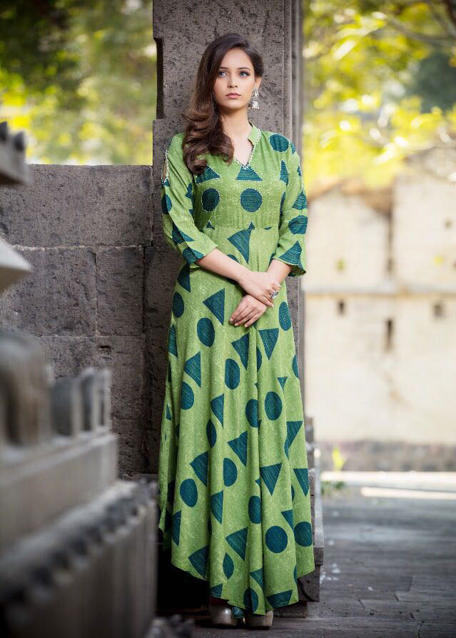 Sethnic wholesale Pearl rayon kurti catalog online supplier in surat