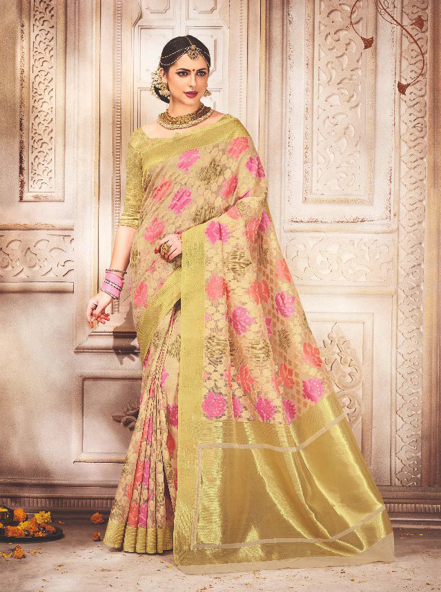 Buy Bela Creation 17010 to 17018 art silk saree collction online