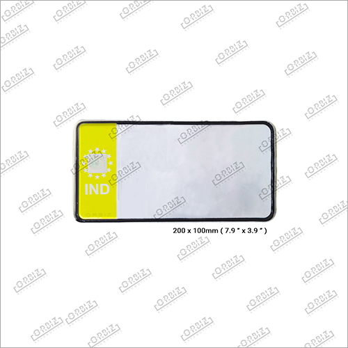 Ind Yellow Bike Back Number Plate