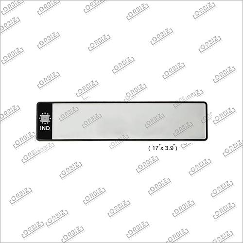Ind Black Car Medium Number Plate