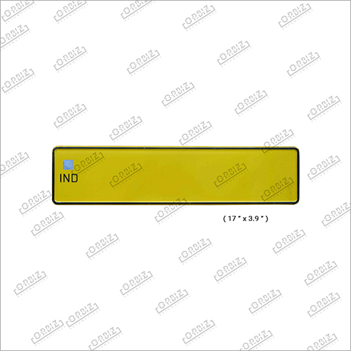 Ind Taxi Car Medium Number Plate