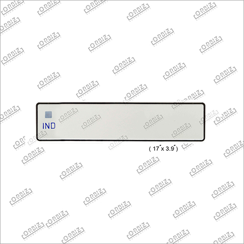 Ind Blank Car Medium Number Plate