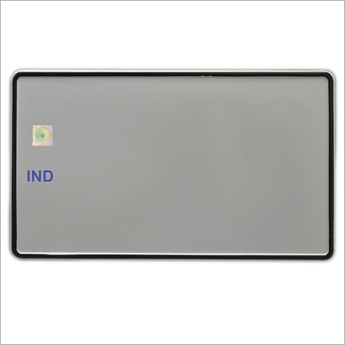 IND Blank Number Plate