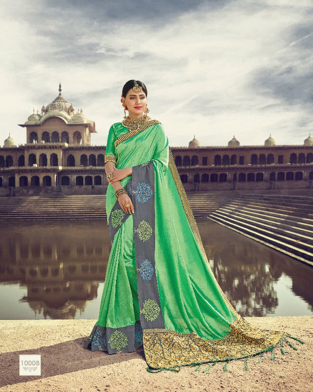 Aethnic 10001 to 10008 silk saree collection online wholesale