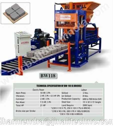 BW-118 Interlocking Block Making Plant