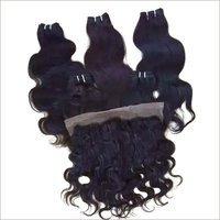 Raw Body wave hair and frontal 13x4