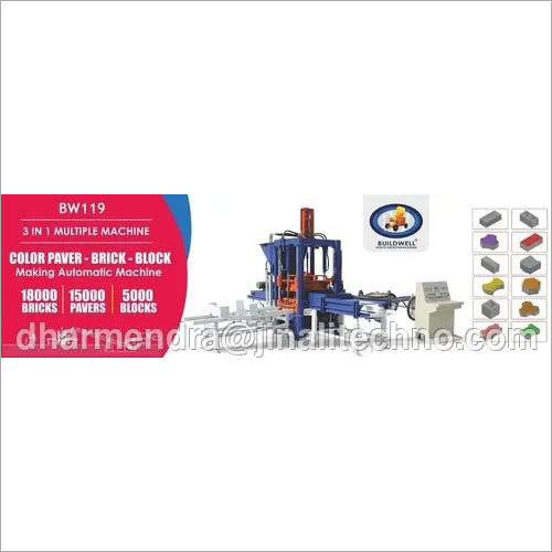 BW-119 3 In 1 Bricks making Fully Automatic Machine