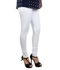 White Churidar Leggings