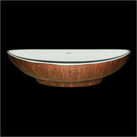 Ceramic Wooden Finish Wash Basin