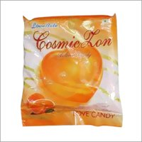 Orange Flavored Ligind Center Filled Candy