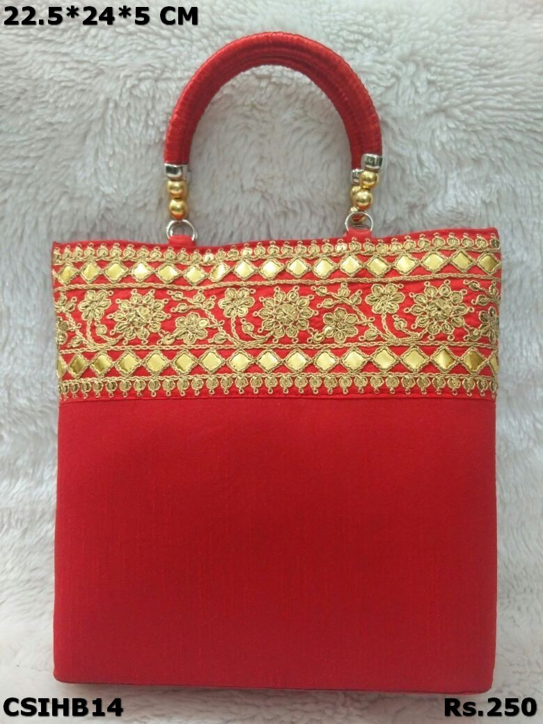 Raw Silk Handbag