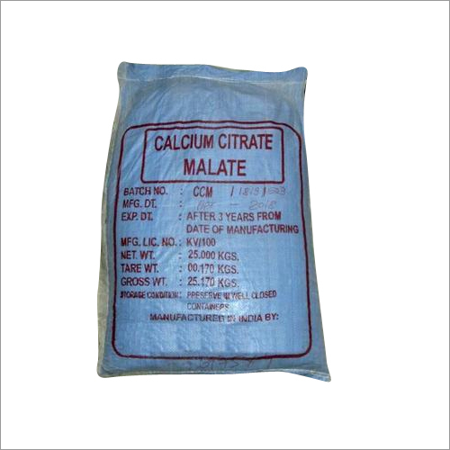 Calcium Citrate Malate - Manufacturers & Suppliers, Dealers