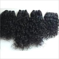 Raw indian curly hair