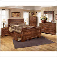 Royal Wooden Drawer Bed