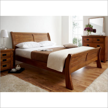 Modern High Rise Wooden Bed