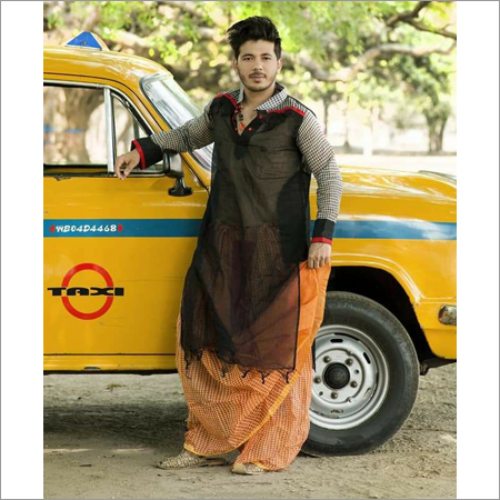 Mens Tant and Gamcha Kurta with Gamcha Dhoti