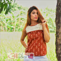 Ladies Dabu Cotton Top