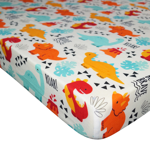 100% Cotton Crib Fitted Sheet Ultra-Soft Fitted Crib Sheets