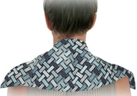 Microwavable Neck Shoulder Wrap having fill of organic flax Seed