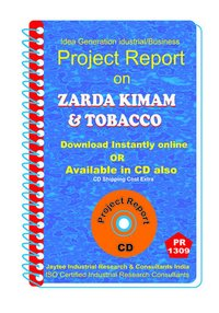 Zarda Kimam and Tobacco manufacturing Project Report eBook