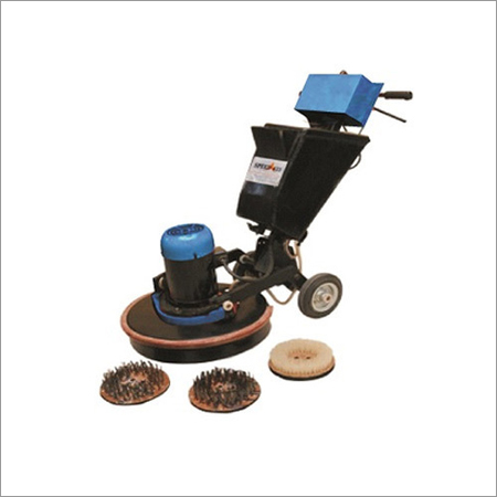 Three Brush Floor Scarifying