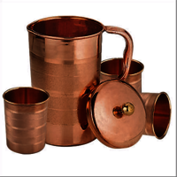 Copper Jug-Glass