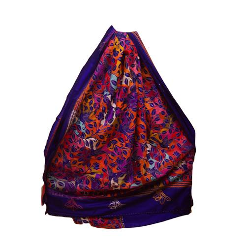 Shantiniketan Kantha Stitch Saree