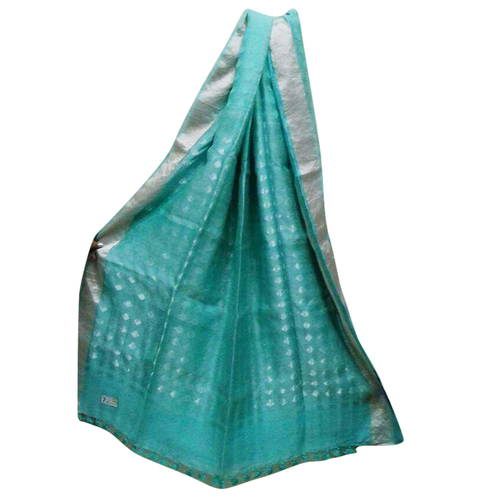 Jamdani Design Noil Silk Saree