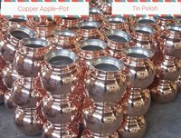 Copper Apple Pot-Tin Polish