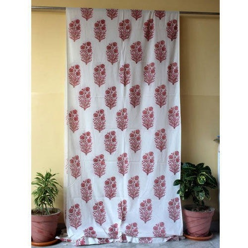Block Print Curtain Fabric