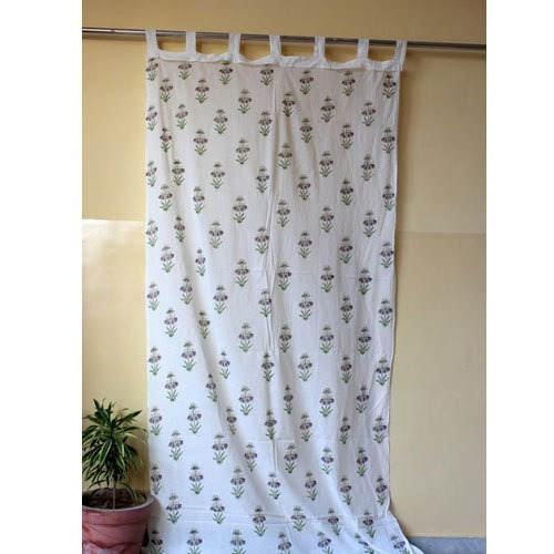 Block Print Cotton Curtain