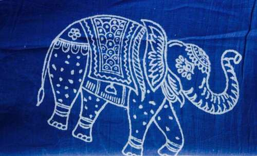 INDIGO Animal Print Hand Block Cotton Fabrics