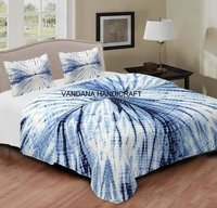 Tie Dye Print Cotton Bed Cover