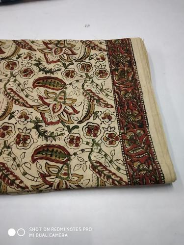Kalamkari Hand Block Print Cotton Fabric