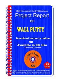 Wall Putty manufacturing Project Report eBook