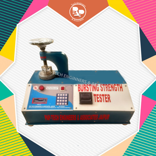 Digital Bursting Strength Tester attached with printer
