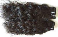 Single Donor Raw Indian Wavy Hair ,Machine Weft Wavy Hair