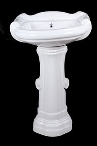 Royal Plain White Pedestal Wash Basin