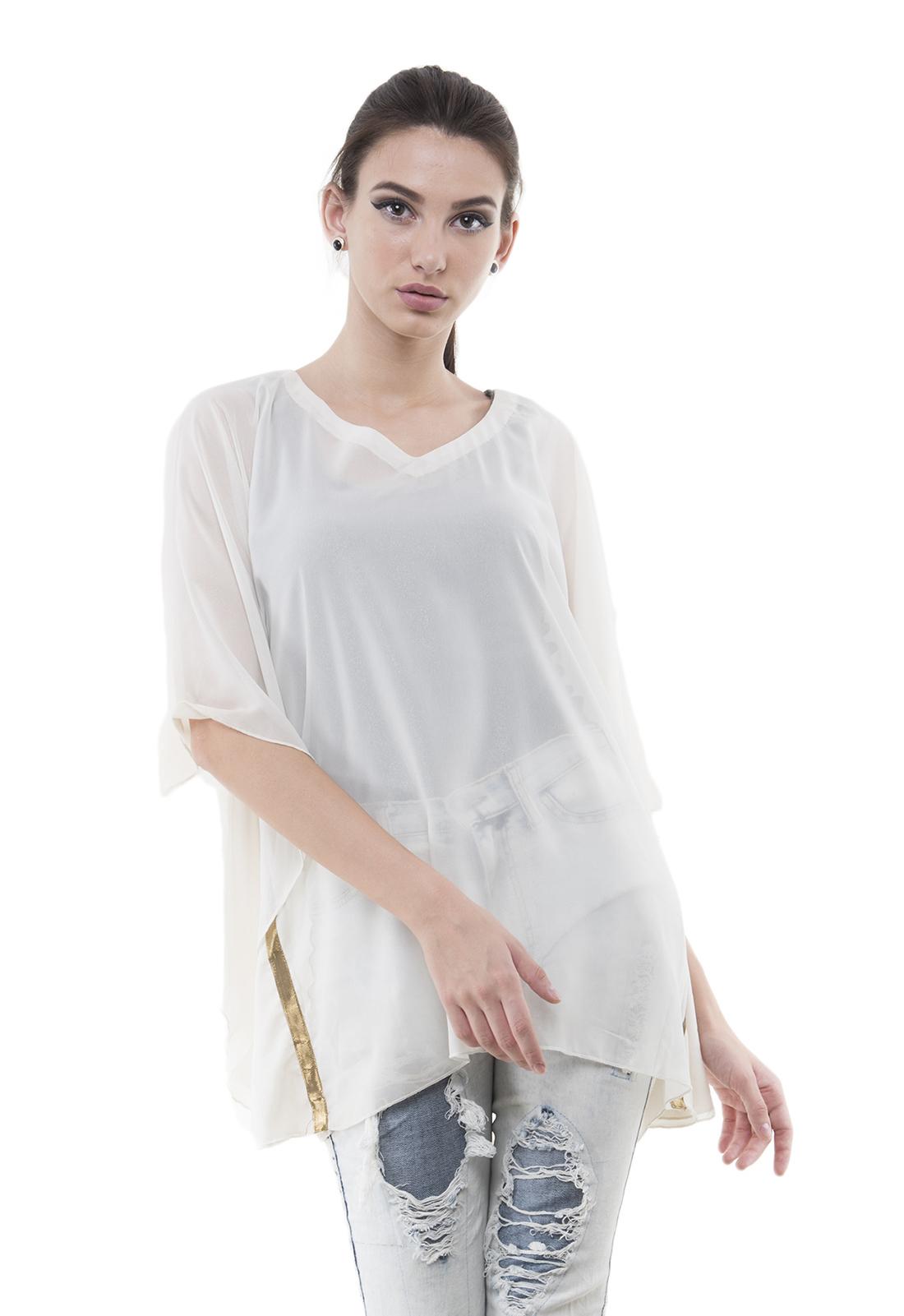 Women's Georgette Half Sleeve Kaftan