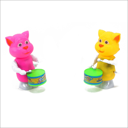 Wind Up Cat Drummer Toy