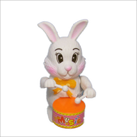 Wind Up Rabbit Drummer Toy