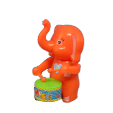 Wind Up Elephant Drummer Toy