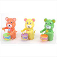Wind Up Bear Drummer Toy