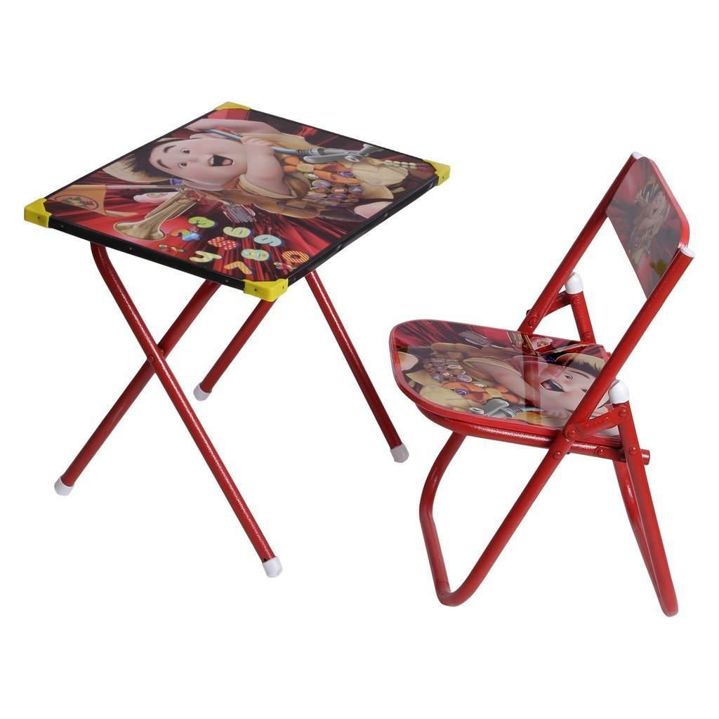 Children Folding Study Table And Chair