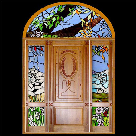Wooden Glass Door Design