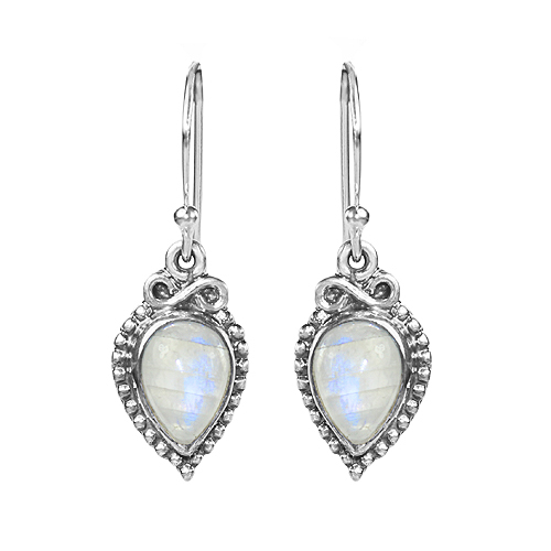925 Sterling Silver Lovely Design Moonstone Earring